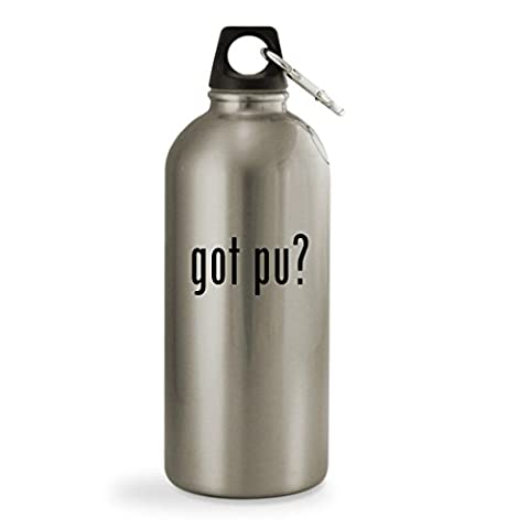 got Pu? - 20oz Silver Sturdy Stainless Steel Water Bottle with Small Mouth (Mosin Nagant Pu Mount)