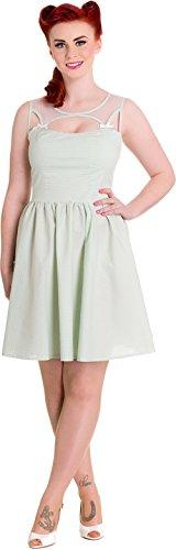 Kleid Kleid Mintfarben Maisy Damen Hell Gingham Mini Weiß Bunny qZ4EvE