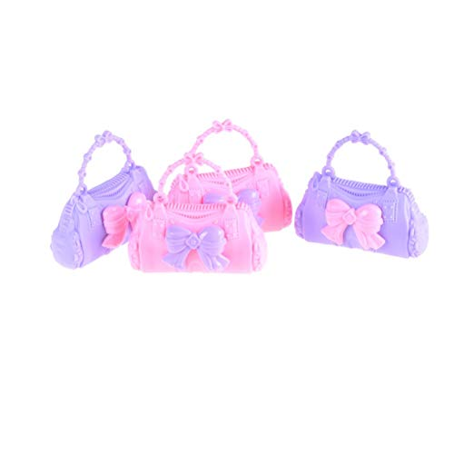 Dolls Accessories - 2pcs Bag Random Styles Lovely Kids Birthday Gift Girl Shaped Kid Toys - Laptop Suits Water Night Horse Makeup Lingerie Playset Jewelry Dentist Patterns Phone Woman Necklac