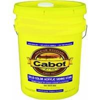 Cabot Siding Stain Acrylic Pine Deep Base Solid 5 Gl 6-1/2 Yr Warranty 4 Hr