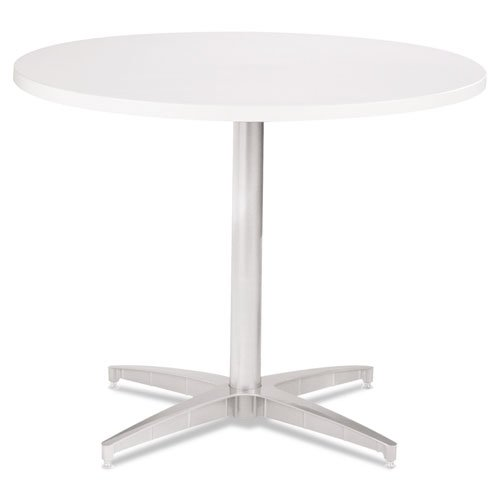 Iceberg OfficeWorks 42quot; Round Conference Table Top, Square Edge, White