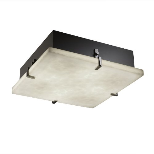 Clips Group Justice Design (Justice Design Group Lighting CLD-5555-ABRS Clips 12-Inch Square Flush-Mount)