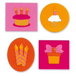 Sizzlits 4 Dies (Sizzix Sizzlits Die Set 4PK - Birthday Knockout Set)