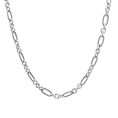 Carolyn Pollack Sterling Silver Oval Link Chain Necklace 24 Inch