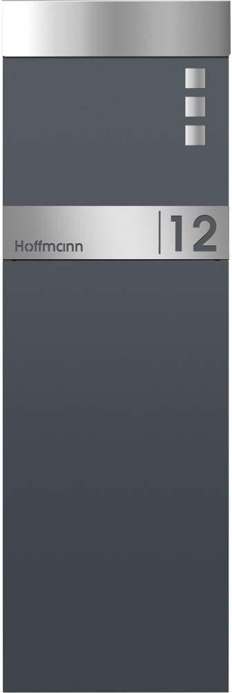 Edelstahl mit Hausnummer /& Namen Frabox/® Standbriefkasten NAMUR in anthrazitgrau RAL 7016