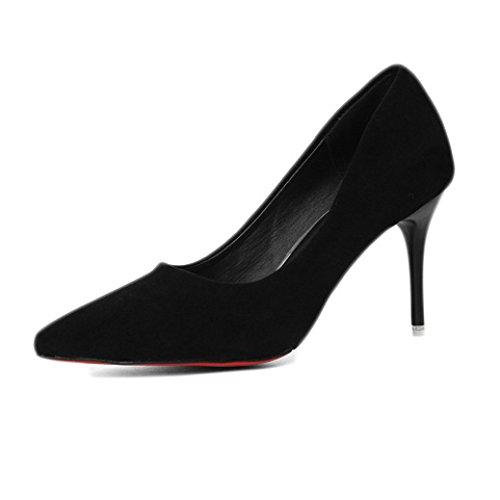 Black 38 Travail Chaussures De Travail Talons 8 Nightclub Sneakers 5cm 5 Chaussures EU Tennis Noir Party Hauts Femme Chaussures Chaussures 5 Sexy UK Cour Femmes Mode wXUBpPqpv