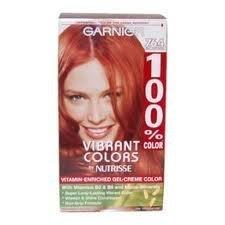Garnier 100% Colour (Garnier 100% Color Vitamin-Enriched Gel Crème, 764 Bright Auburn Blonde)