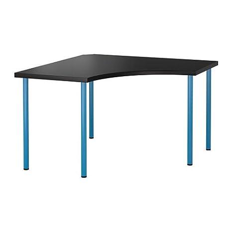 Ikea 14202.14238.186 Mesa de Esquina, Tapa Negra, Patas ...