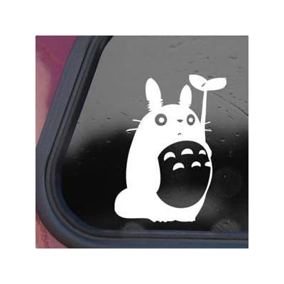 CMI Totoro Sticker Decal Studio Ghibli Wall Laptop Die-Cut White Sticker Decal (White): Automotive