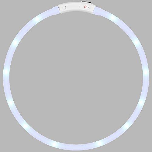 LED Hundehalsband, DLand LED USB wiederaufladbar Pet Sicherheit Halsband sichtbar 1640FT Wasserdicht Licht bis Länge verstellbar blinkendes Halsband (rot)