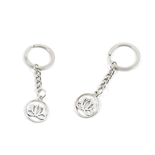 1 Pieces Keychain Keyring Door Car Key Chain Ring Tag Charms Supply H0NC7O Lotus Signs