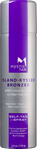 Mystic Tan Sunless Self-Tanning Airbrush Spray with Bronzer - Island-Kyssed, 6 Ounces