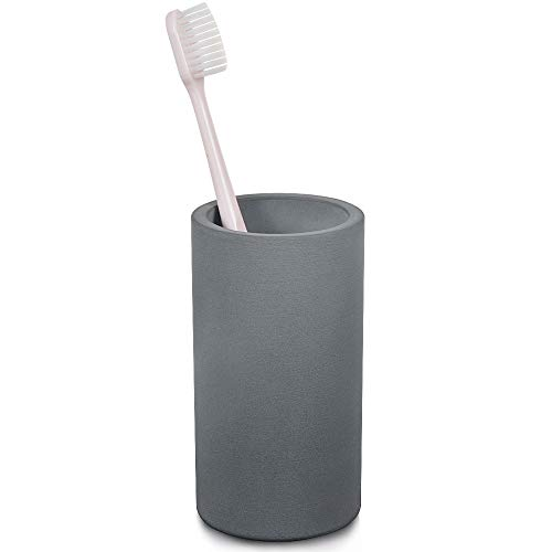 OWSEN Toothbrush Holder, Modern Design Diatomite Handmade Electric Toothbrush Holder Space-Saving Organizer for Bathroom Counter, Grey