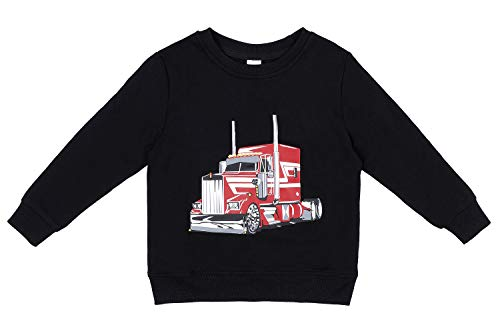 Sociala Black Sweatshirt Kids Boys Crewneck Sweatshirts 100 Cotton Truck 4 by Sociala (Image #5)