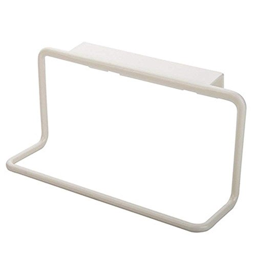 Wewin Towel Rack Hanging Holder Organizer Bathroom Kitchen Cabinet Cupboard Hanger (White)