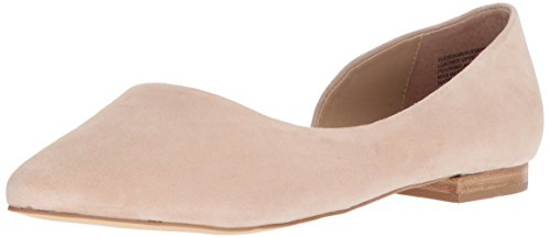 Steve Madden Women's Audriana Ballet Flat, Natural Suede, 7.5 M US