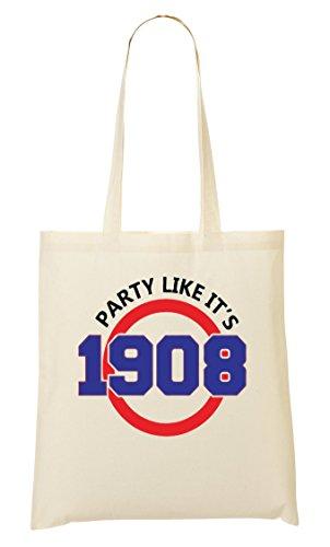 CP Party Like It'S 1908 Funny Bolso De Mano Bolsa De La Compra