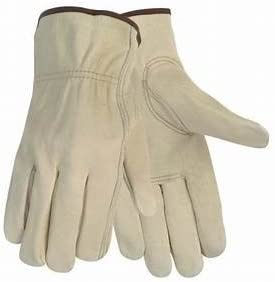 12 Pair Large Leather Work Gloves. Durable Cowhide Leather. Ideal Hand Protection for Construction & Industrial Use. SM to 3X Sizes. (Large) - - Amazon.com