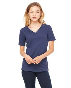 - Bella for Women's Missy Fit V-Neck Short-Sleeve T-Shirt, navy, X-Large