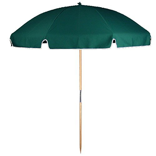 6.5 ft. Fiberglass Commercial Grade Beach Umbrella with Ash Wood Pole & Acrylic Fabric