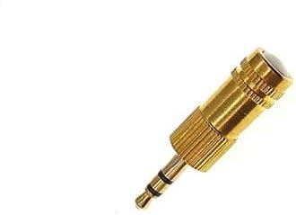 Gold AntJack Antena Radio FM simula Auriculares Manos Libres para Smartphone Cell Jack 3,5 mm Metal Color Oro