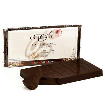 Belgian Dark Chocolate Baking Block - 70.4% - 1 block, 11 lbs - Cocoa Extra Dark Chocolate