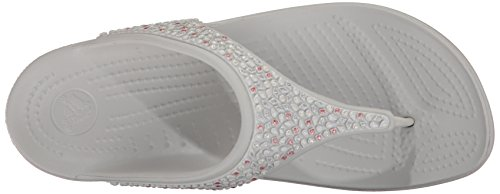 White Pearl Eu Tongs Crocs Sloane Multi Femme Embellished Noir 088HY7