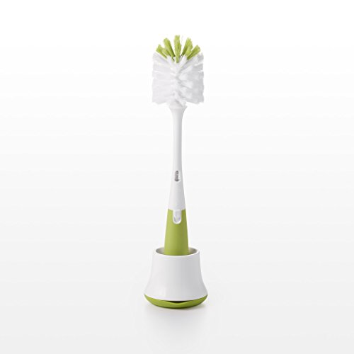 OXO Tot Bottle Brush with Nipple Cleaner and Stand, Green