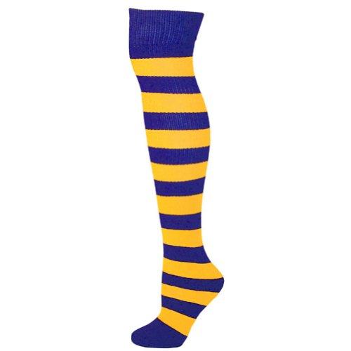 Striped Socks - Blue/Gold (Blue Costumes Socks)