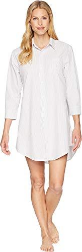Lauren Ralph Lauren Women's Essentials Striped His Shirt Grey Stripe Medium