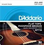 3 Sets D'Addario EFT16 Flat Top Light Acoustic Guitar Strings
