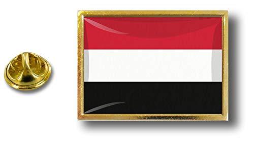 de mariposa Bandera del Yemen los alfileres alfiler Perno la el Yemenita Akacha de insignia metal de clip de con de q0xAwa1