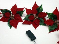 - Poinsettia Garland - Battery