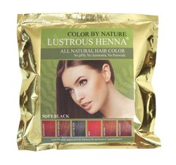 Lustrous Henna Soft Black- 100 Grams