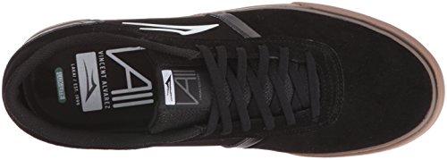 Lakai Mens Vincent Skateboarding Shoe Black/Gum Suede mZEmt