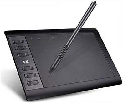 Riiai ペンタブ 10x6インチ カスタマイズ ショートカット22個 スマホでお使えペンタブレット