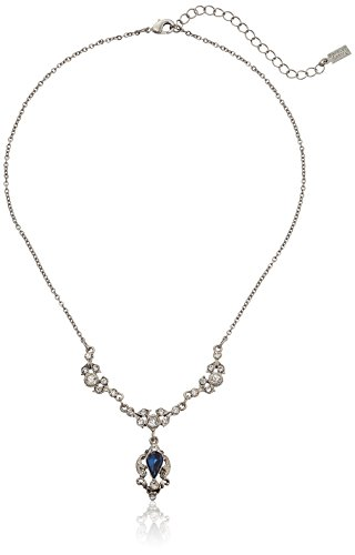 Downton Abbey Silver-Tone Montana Blue Crystal Belle Epoch Pendant Necklace