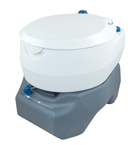 31kcMVBHwOL Campingaz Campingtoilette, Chemietoilette, chemische Toilette mit antimikrobiellem WC-Sitz und Schüssel & Instapink 1…
