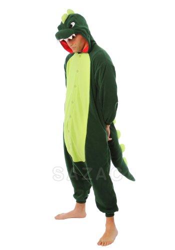 (SAZAC Dinosaur Kigurumi Green (Adults)