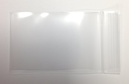 "2"" x 3"", 4Mil Thick Clear Reclosable Zip Lock Bags, case of 1,000"