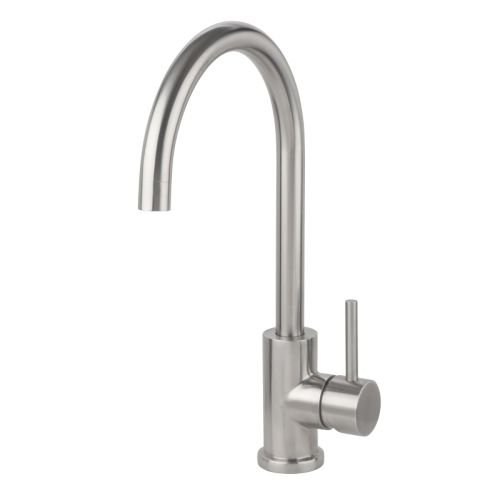 Miseno MK003 Bar / Prep Faucet (Solid T304 Stainless Steel) with Lever Handle an, Brushed Stainless (Miseno Faucet)