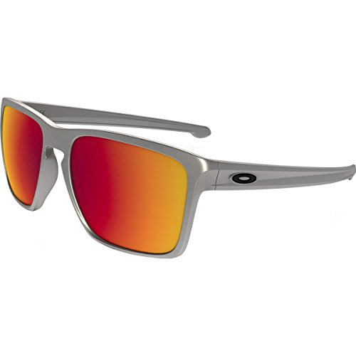 Oakley Mens Sliver XL Sunglasses, Lead/Torch Iridium, One - Oakley Sunglasses Xl