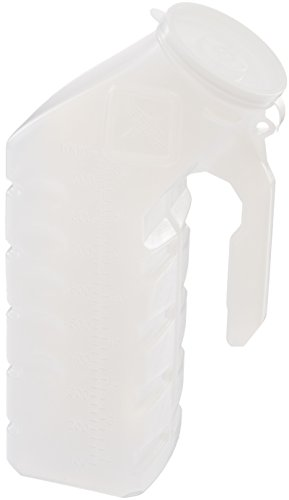Medline DYND80235R Plastic Latex Free Male Urinal, Clear, 32 oz (Pack of 6) Plastic Male Urinal