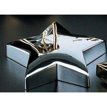 - Bey-Berk D506 Silver Plated Star Paper Weight. Grey