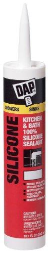 Dap 08648 12 Pack 10.1 oz. 100% Silicone Kitchen and Bath Sealant, Clear by DAP