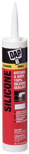 Dap 08648 10.1 oz. 100% Silicone Kitchen and Bath Sealant, Clear