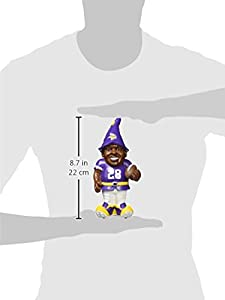 "NFL Minnesota Vikings Adrian Peterson #28 Resin Player Gnome, 8"", Team Color"