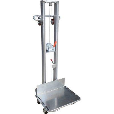 Vestil ALLW-2420-4SFL Aluminum Lite Load Lift Winch, 6-1/4'' - 59'' Height Range, 20'' Length x 24'' Width Platform, 400 lbs Capacity by Vestil