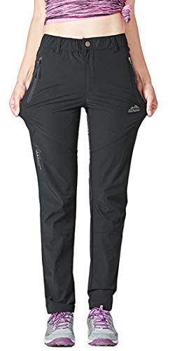 TBMPOY Women's Outdoor Quick Dry Lightweight Hiking Mountain Pants Zipper Pockets