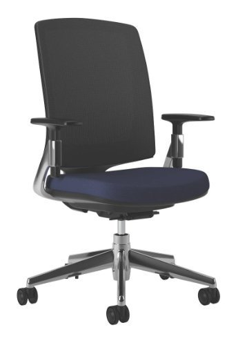 HON Lota Mid-Back Office Chair – Mesh Back Computer Chair for Office or Computer Desk, Navy/Black (H2283)